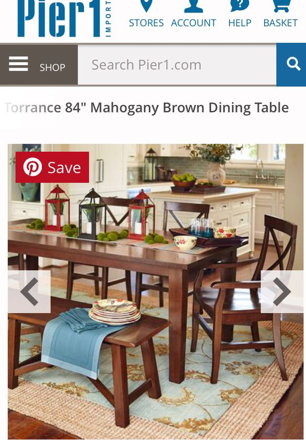 84 Inch Mahogany Dining Table With 6 Chairs Furniture In Cheshire Ct Offerup