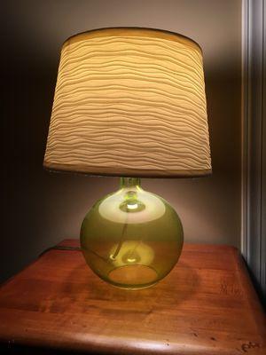 Green glass lamp for Sale in Midlothian, VA