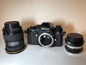 NIKON F3 + motor drive and two lenses for Sale in Cape Coral, FL