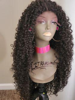 Human hair blend Lace Parting Wig Thumbnail