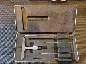 Photo Starrett Blade Type Depth Micrometer 0-6
