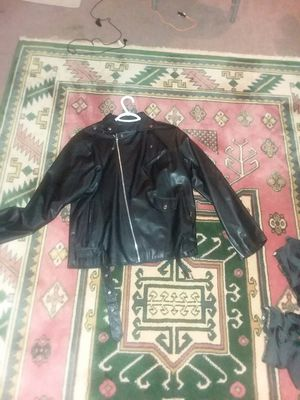 Motorcycle leather jacket for Sale in Alexandria, VA