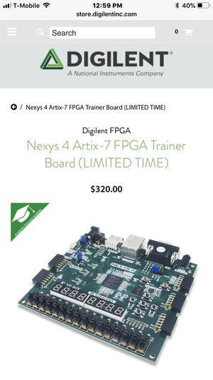 Nexys 4 Artix-7 FPGA Trainer Board for Sale in Bellflower, CA - OfferUp
