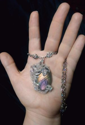 Hand made Polymer clay pendant necklace labradorite for Sale in Pinellas Park, FL