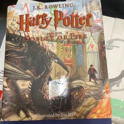 Harry Potter and the Goblet of Fire: The Illustrated Edition (Harry Potter, Book 4): The Illustrated Edition (Hardcover) Thumbnail