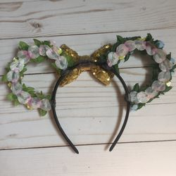 Floral Wire Minnie Mouse Ears Thumbnail