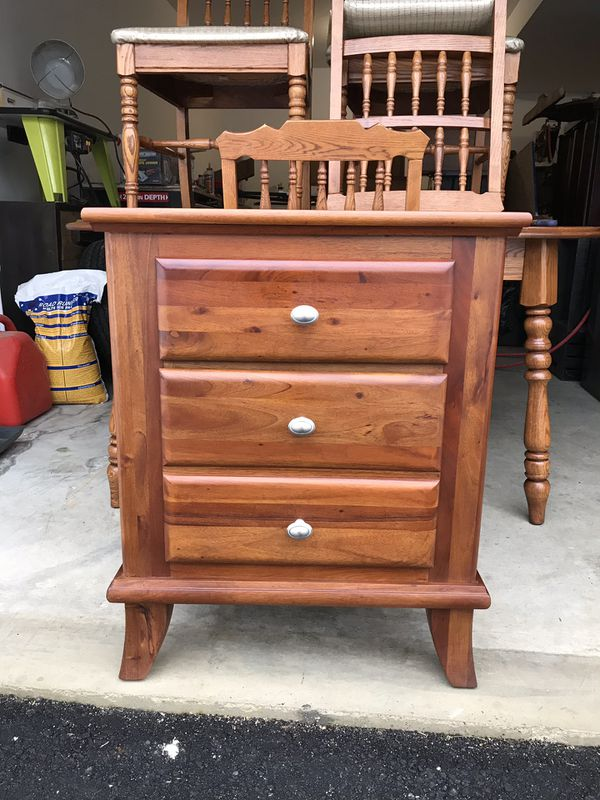 Large Side Table End Nightstand