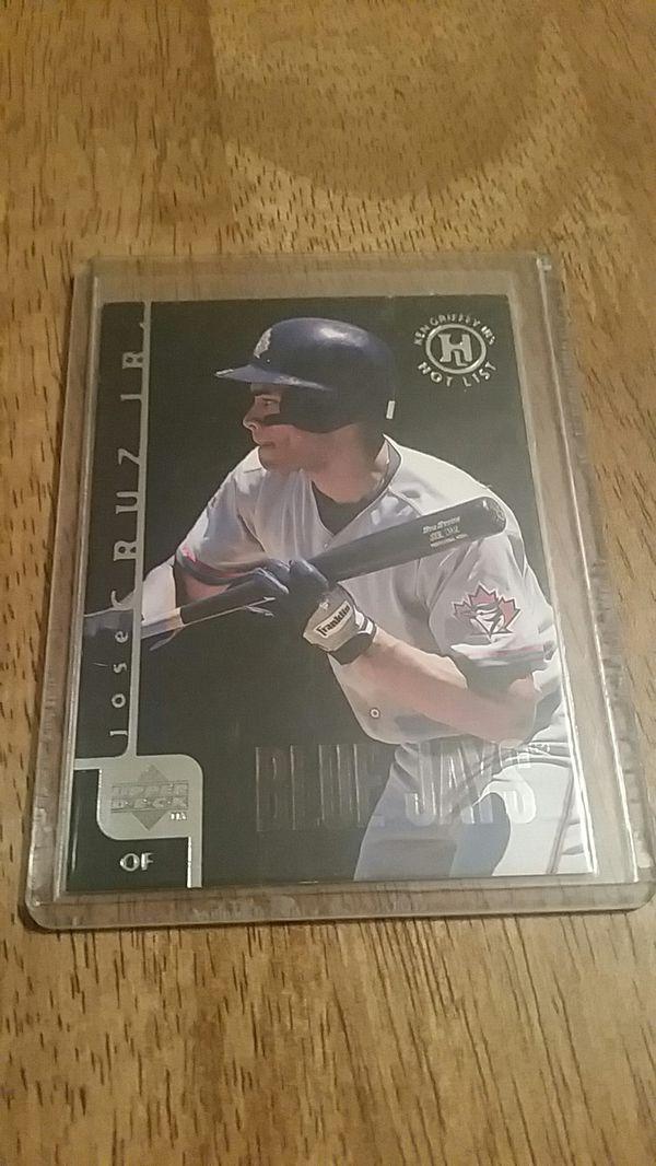 Jose Cruz Jr Baseball Card Ken Griffey Jrs Hot List Upper Deck For Sale In Bath Pa Offerup