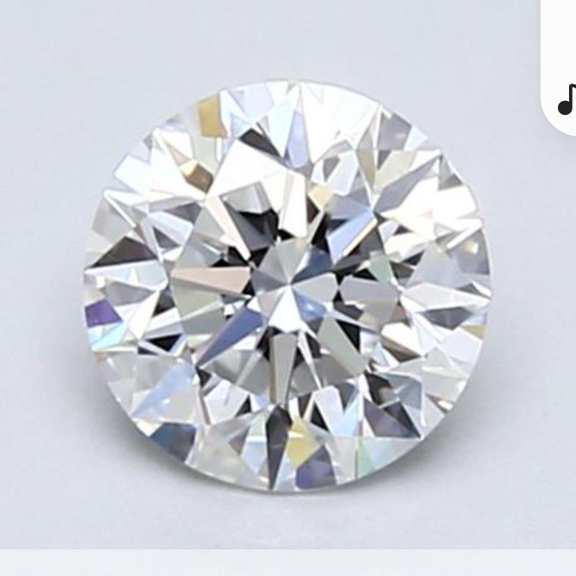 Natural Round Diamond 0.73 Carat D Color VVS1 IDEAL Cut