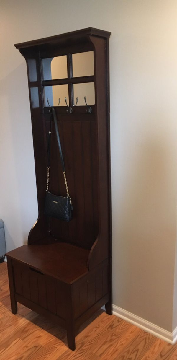 Enjoyable Entryway Storage Bench With Coat Rack For Sale In Roselle Creativecarmelina Interior Chair Design Creativecarmelinacom