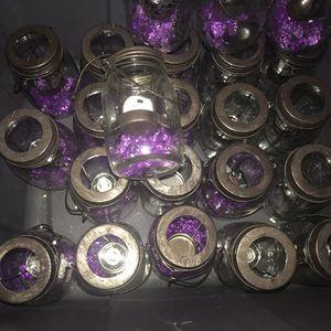 Mason Jars with tea lights for Sale in Falls Church, VA