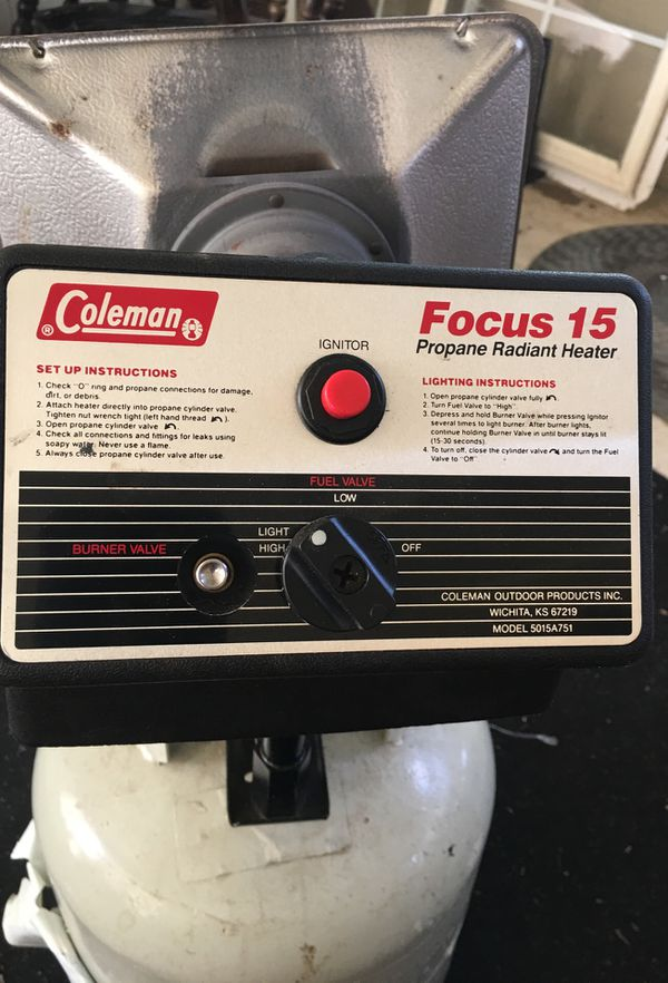Coleman Propane Radiant Heater For Sale In Indianapolis In Offerup