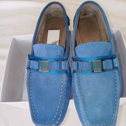 MEN'S SIZE: (9)   **CALVIN KLEIN: BRUSHED SUEDE DRIVER LOAFER**   (•8/10 CONDITION •ODOR/STAIN FREE)   $$30 Thumbnail