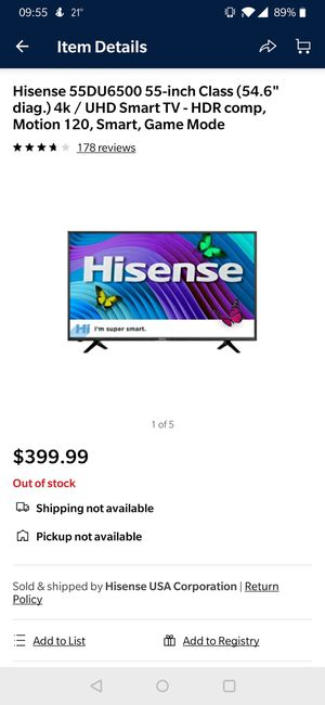 New and Used 55 inch tv for Sale in Lebanon, PA - OfferUp