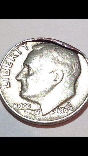 Rare Huge Cud Error 1972D Dime- Huge Cud Error- Very Unusual for a Cud this big- Valuable Quality Error! for Sale in Herndon, VA