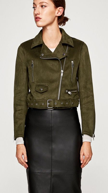81a4f17ea3a6 Zara Basic Faux Suede Biker Jacket for Sale in Los Angeles, CA - OfferUp