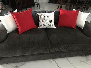 ZGallery gray low profile sofa. Without decorative pillows. for Sale in Miami, FL