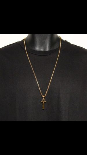 18k Platted Gold Chain +18k Platted Gold Pendant for Sale in Los Angeles, CA