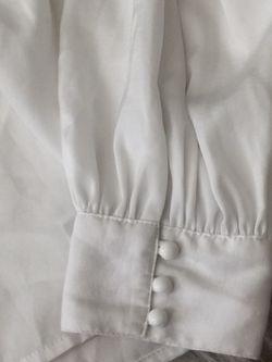 White silk top Thumbnail