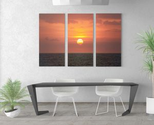 Sunset Canvas Wrap 3 piece set for Sale in Riverbank, CA