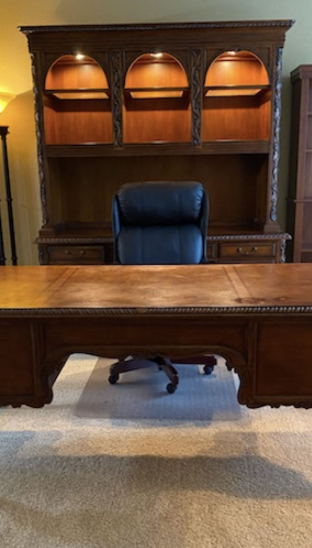 3 Piece Solid Wood Hooker Desk Set