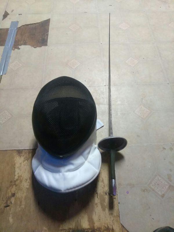 Fencing helmet and sword for Sale in Atlanta, GA - OfferUp