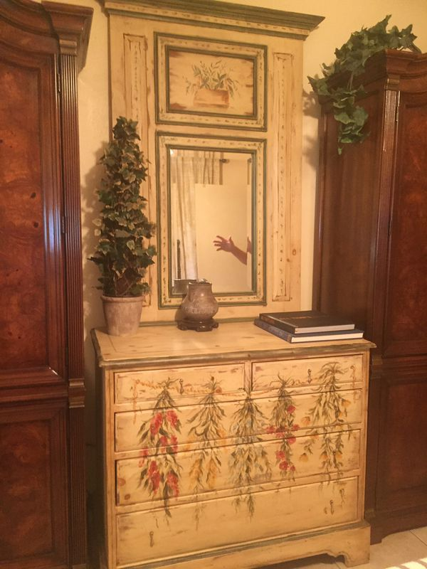 Habersham Plantation Hand Painted Chest And Trumeau Mirror For Sale In Fort Myers Fl Offerup