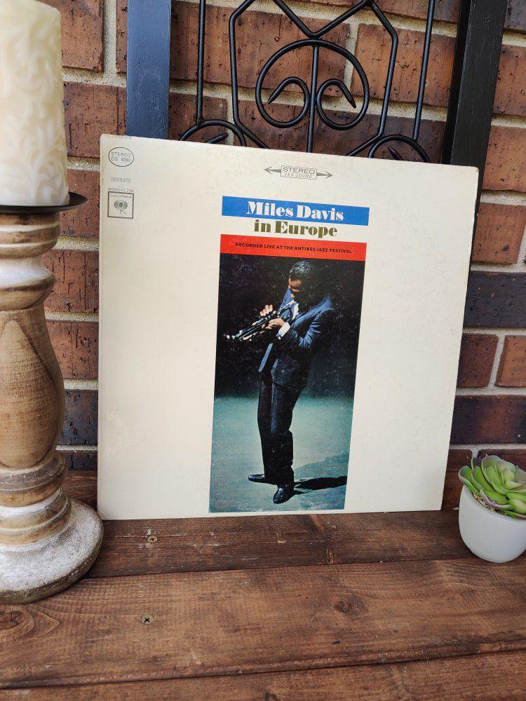 Vintage Miles Davis IN Europe Vintage Lp/Album/Record/Album