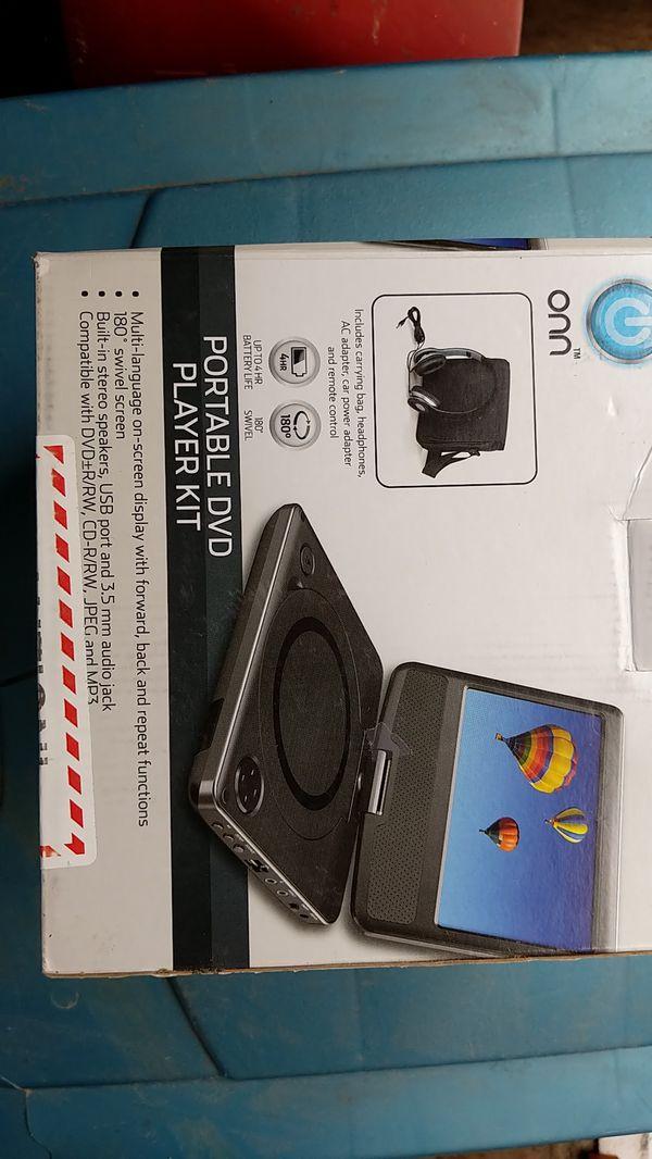 onn portable dvd player manual