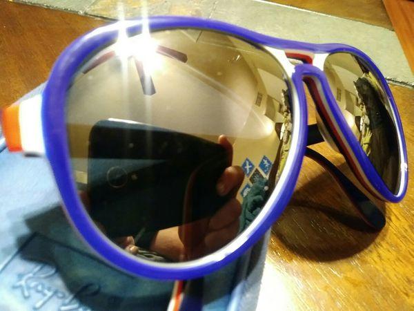 4ca2fff05b9 Vintage Bausch   Lomb B L Ray Ban USA Vagabond Red White Blue Mirror  Olympic Vagabond Sunglasses 58 mm w  Case