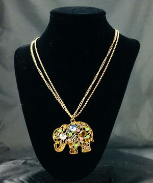 Crystal Elephant Necklace for Sale in Austin, TX