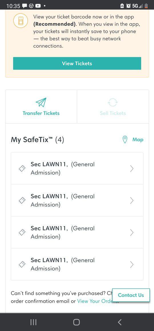Kiss Concert 4 Tickets