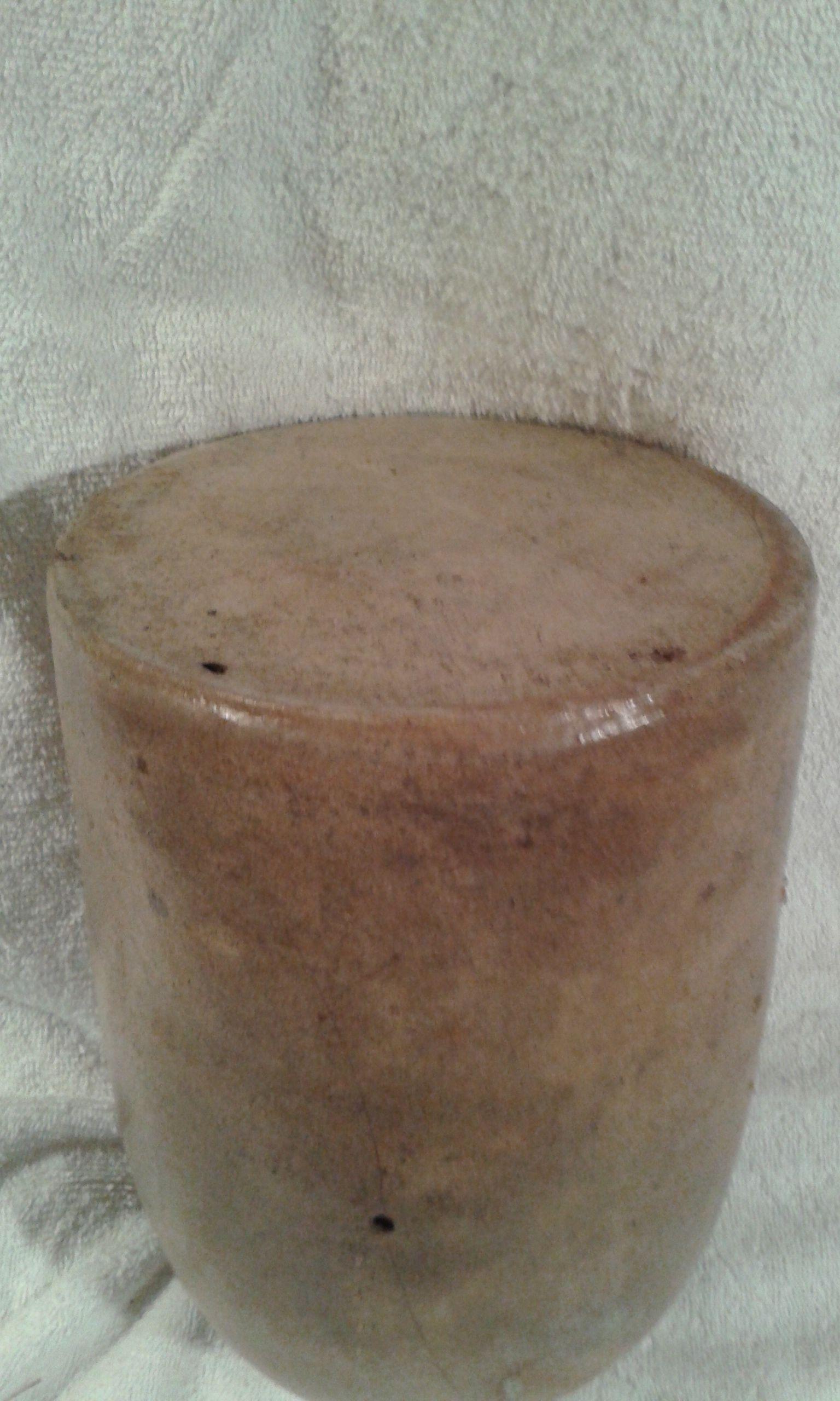 Civil war salt glazed jug! dug up in the 1970-s 1861-1864 -original!