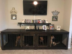 Photo Tv stand dog kennel