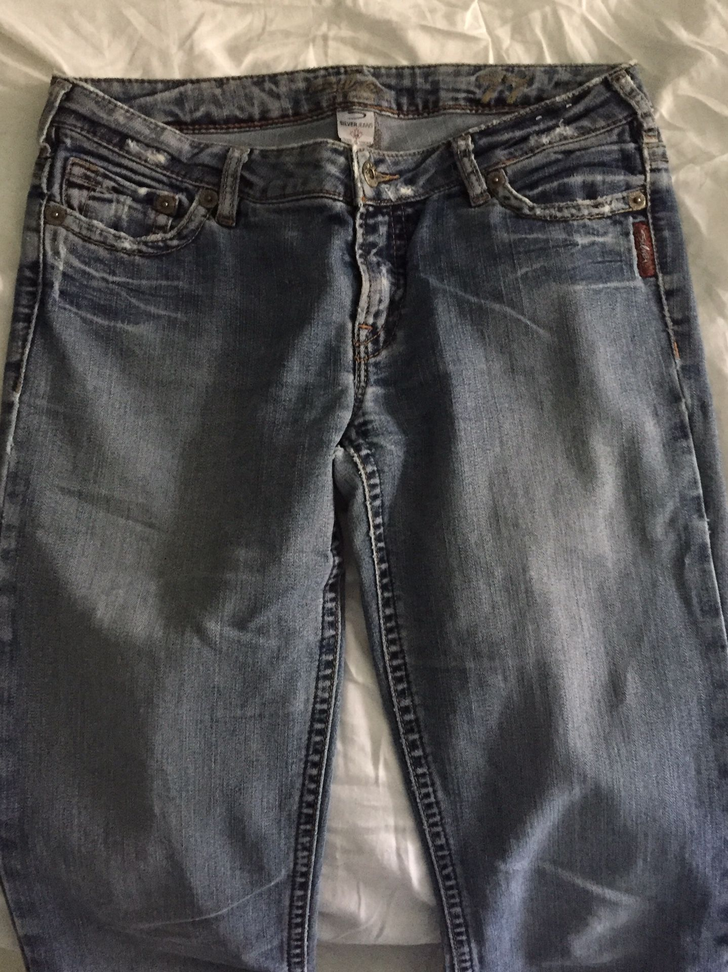 Extra-long Silver jeans (30x37)