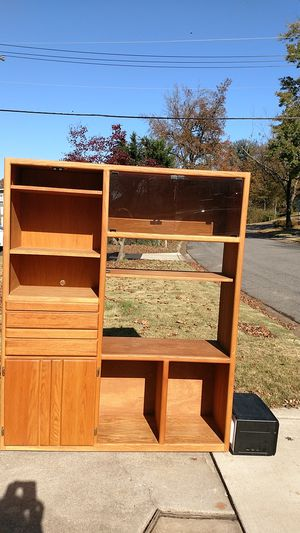 Entertainment center bookcase TV stand all free. for Sale in Bowie, MD