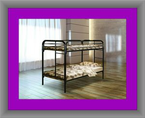 Twin bunk bed frame with mattress for Sale in Alexandria, VA