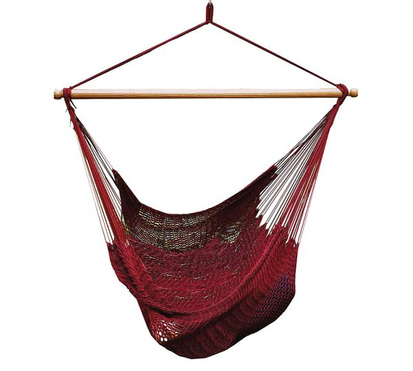 Caribbean Patio Hammock Chair with C-Style Patio Hanging Chair Frame ...