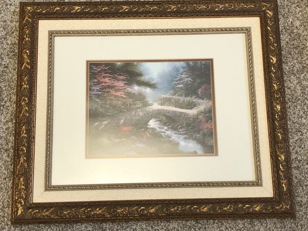 "Thomas Kinkade 9"" x 12"" Matted Print Bridge of Faith (Collectibles ..."
