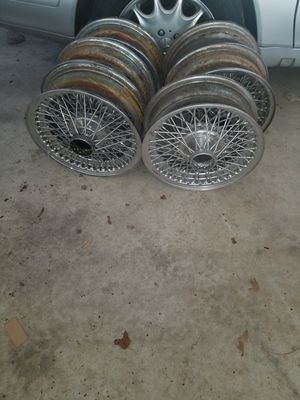 I have a set of original jaguar wire wheels plus to extra for Sale in Annandale, VA