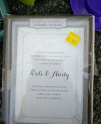 Silver wedding invitation kit for Sale in UT, US