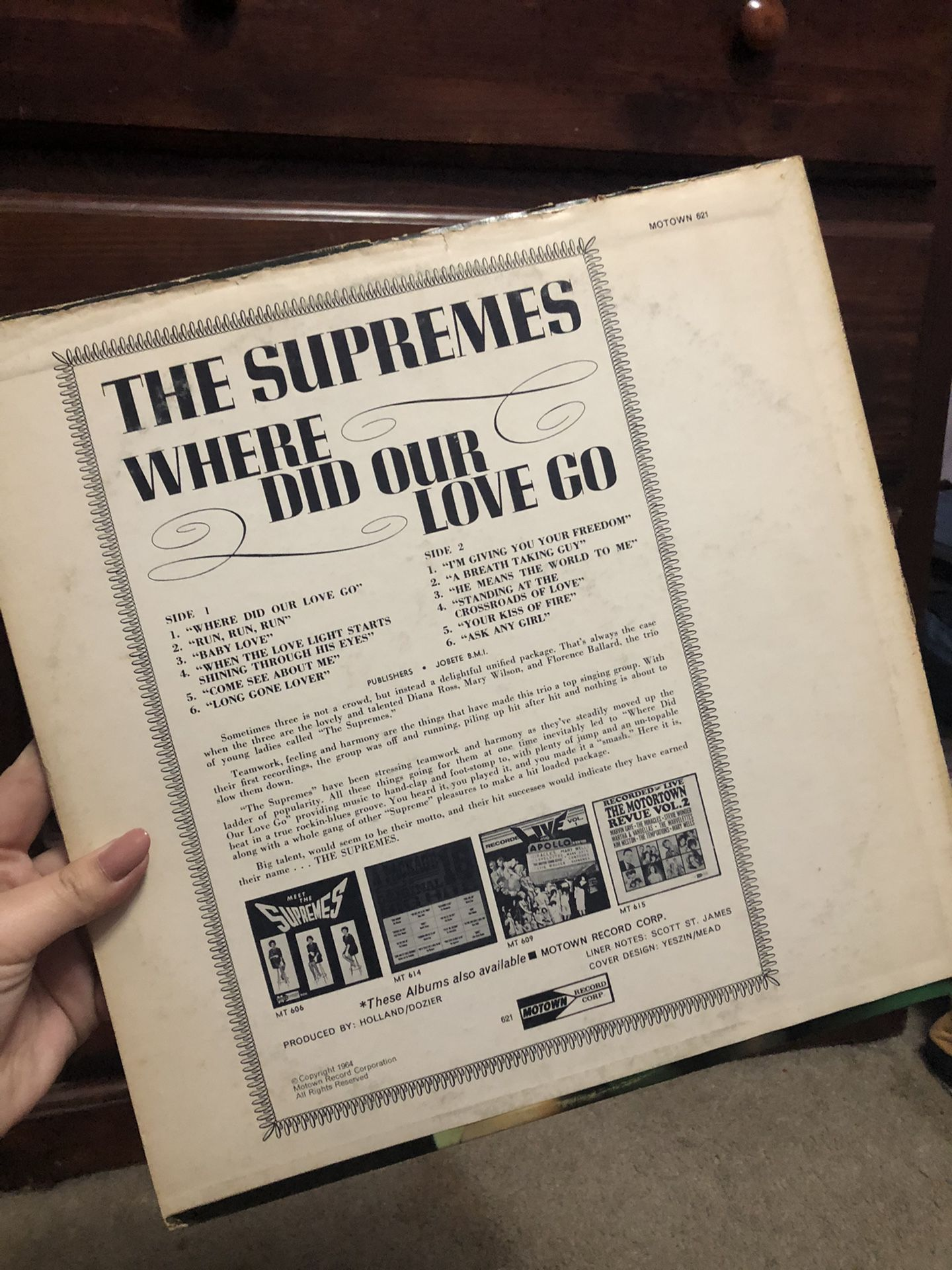 Where Did Our Love Go by The Supremes vinyl