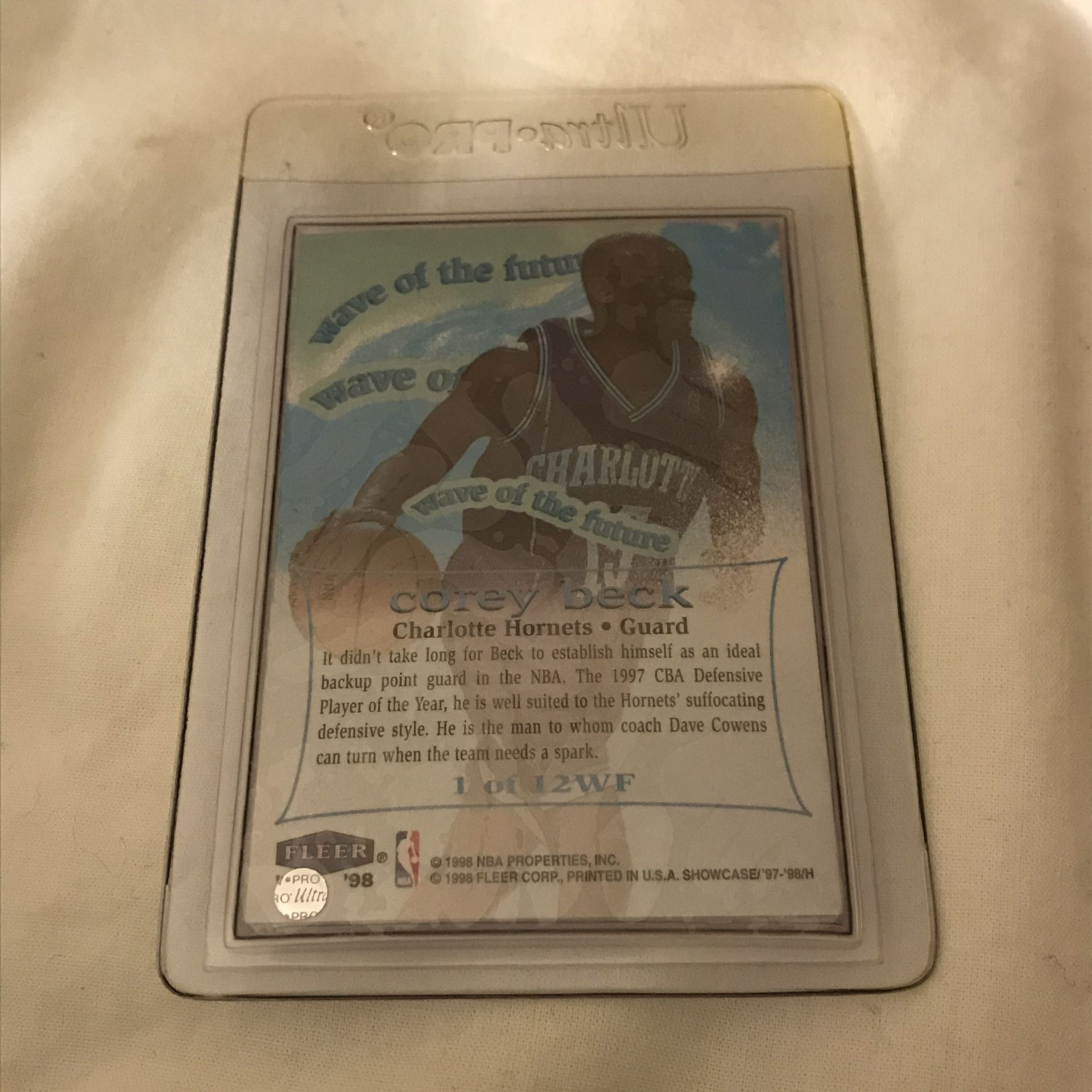 Corey Beck Flair Showcase Wave of the Future Card
