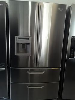 REFRIGERATOR LG 4 DOORS 2 DOORS FREEZER INVERTER EXCELLENT CONDITION WORKING PERFECT WITH WARRANTY DELIVERY SERVICES Thumbnail