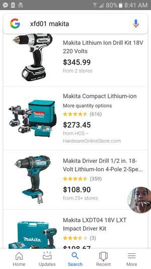 Makita power tool set for Sale in Washington, DC
