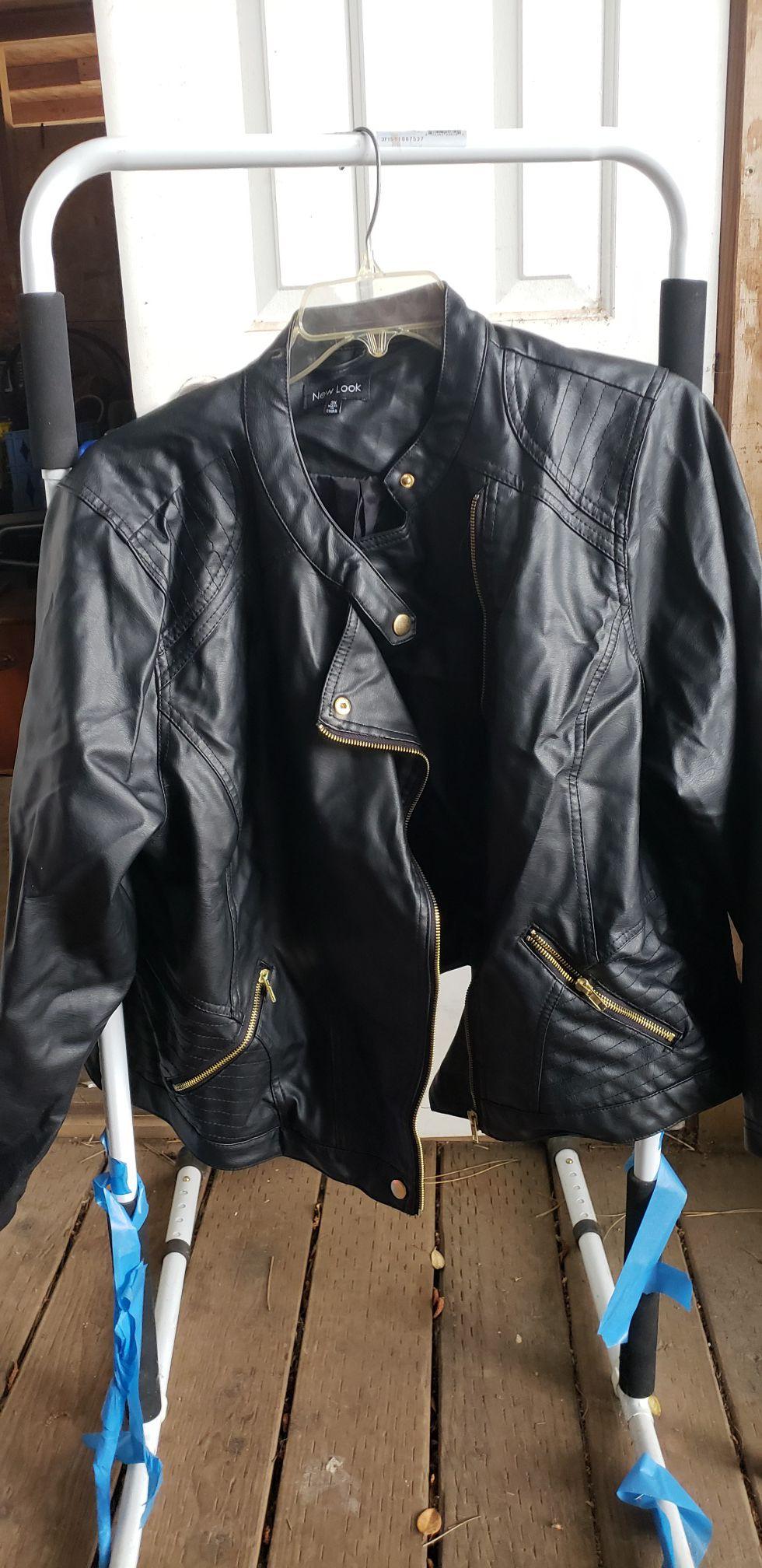 PLUS SIZE 3X faux leather jacket never worn