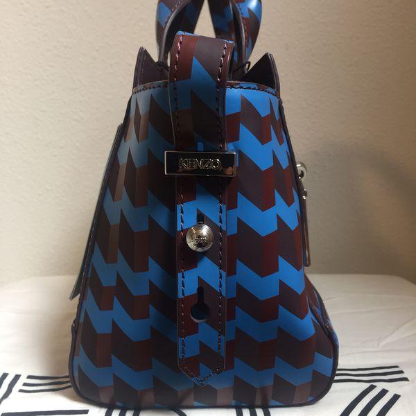 e2363752be87 AUTHENTIC NEW KENZO Kalifornia Vichy Gommato Bag in Purple Prune  595 for  Sale in Renton