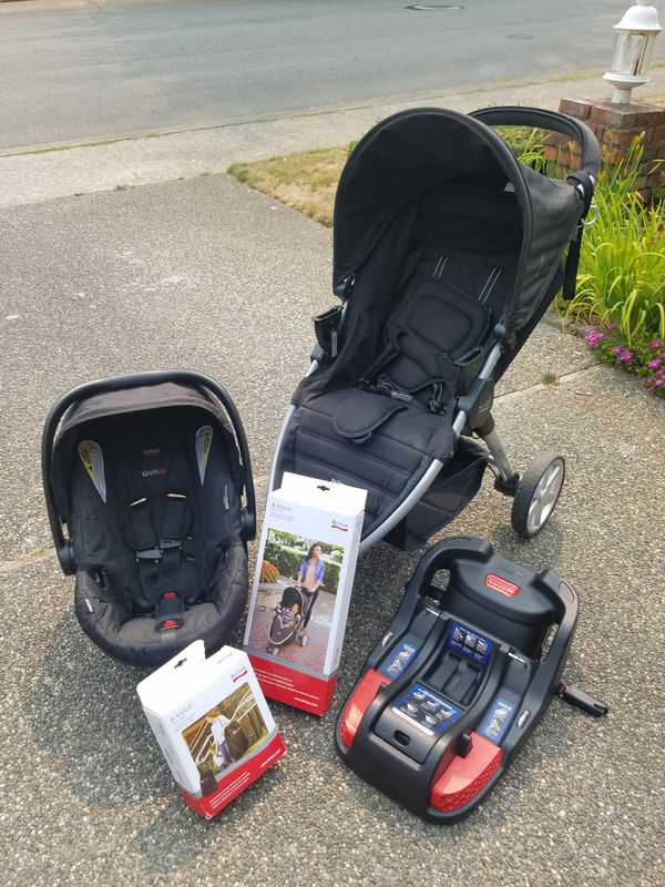 Britax B Agile Safe Travel System 2017 With Car Seat Base Bag And Child Tray For In Lynnwood Wa Offerup