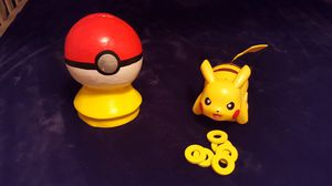Pikachu Working collectable toy and a one of kind/handmade Poke'Ball Piggie Bank! for Sale in Phoenix, AZ