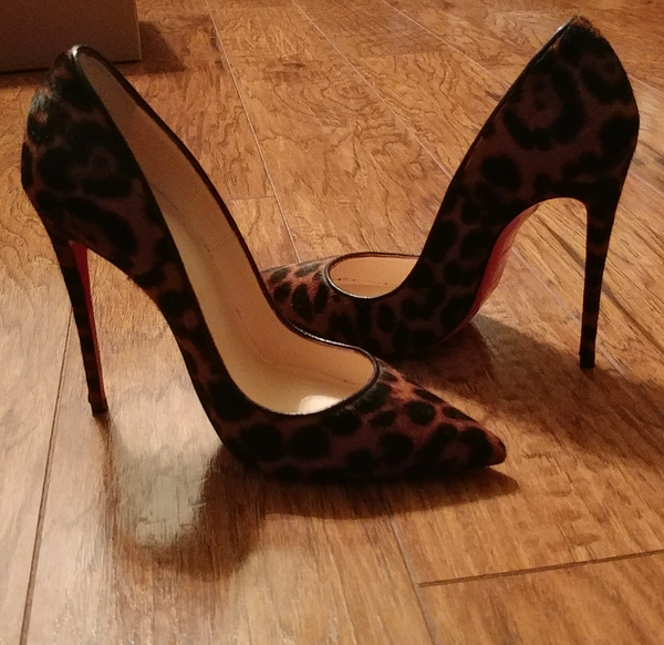new arrival b5ea3 8ed91 Brand new Christian Louboutin 'So Kate' Leopard Pony hair 120mm pumps for  Sale in San Francisco, CA - OfferUp
